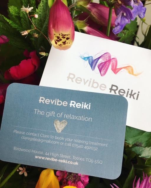 Revibe Reiki Totnes Gift Vouchers